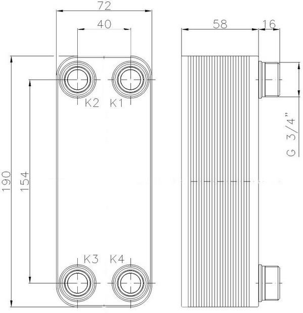 Паяные теплообменники для частных домов купить Паяный пластинчатый теплообменник SWEP F80AS Ростов-на-Дону